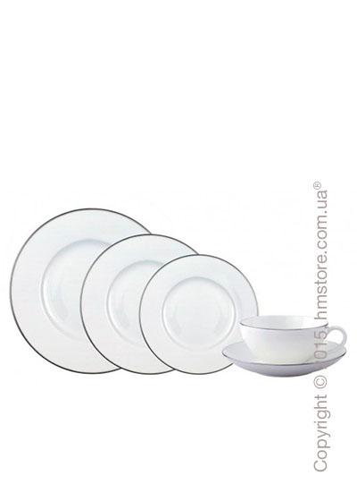 Набор фарфоровой посуды Villeroy & Boch коллекция Anmut Platinum на 6 персон, 51 предмет