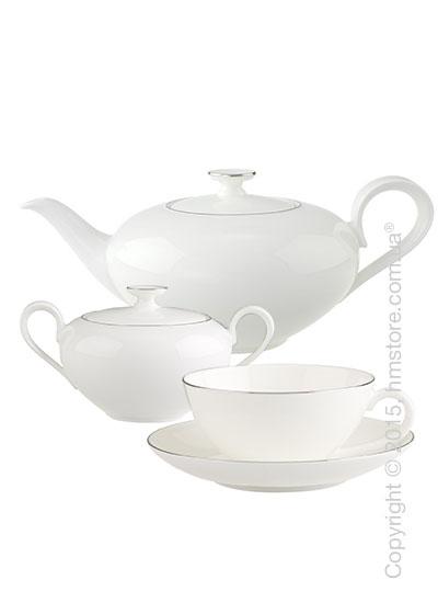 Чайный сервиз Villeroy & Boch коллекция Anmut Platinum на 6 персон, 14 предметов