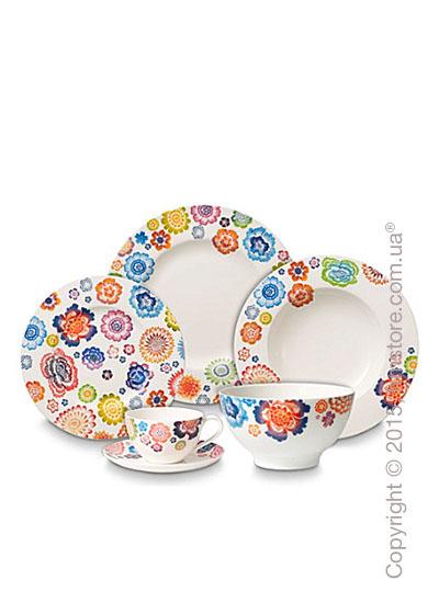 Набор фарфоровой посуды Villeroy & Boch коллекция Anmut Bloom на 6 персон, 48 предметов