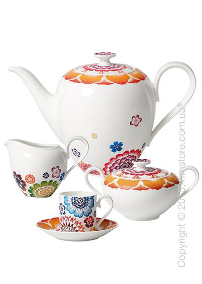 Кофейный сервиз Villeroy & Boch коллекция Anmut Bloom на 6 персон, 15 предметов