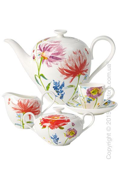 Кофейный сервиз Villeroy & Boch коллекция Anmut Flowers на 6 персон, 15 предметов