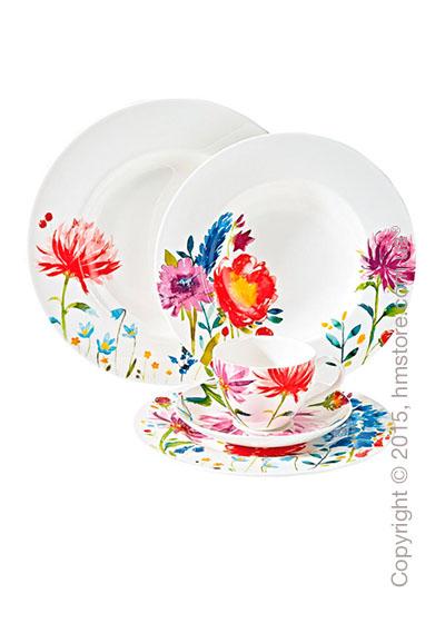Набор фарфоровой посуды Villeroy & Boch коллекция Anmut Flowers на 6 персон, 48 предметов