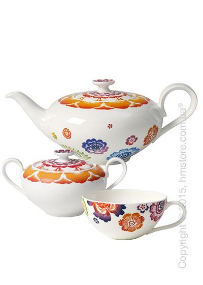 Чайный сервиз Villeroy & Boch коллекция Anmut Bloom на 6 персон, 14 предметов