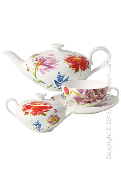 Чайный сервиз Villeroy & Boch коллекция Anmut Flowers на 6 персон, 14 предметов
