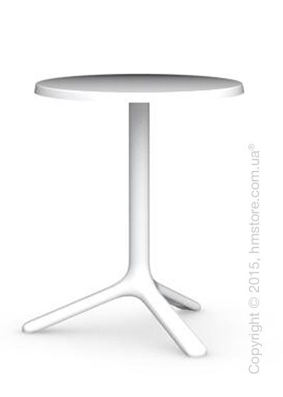 Стол Calligaris Area T, Outdoor bar table, Melamine matt optic white and Metal matt optic white
