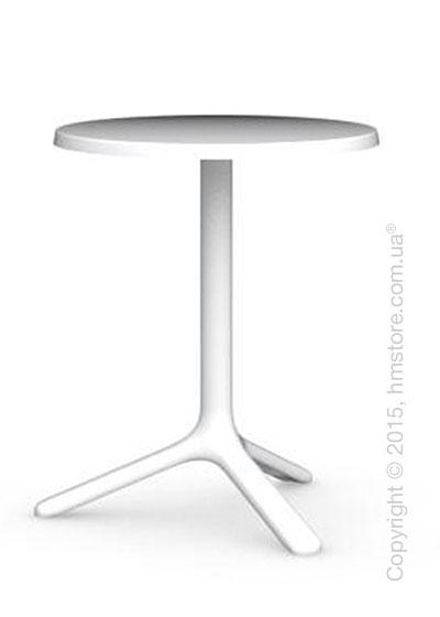 Стол Calligaris Area T, Outdoor bar table, Melamine matt optic white and Metal matt optic white