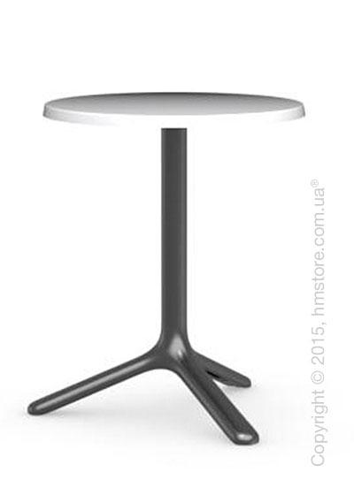 Стол Calligaris Area T, Outdoor bar table, Melamine matt optic white and Metal matt black