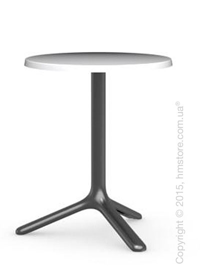 Стол Calligaris Area T, Outdoor bar table, Melamine matt optic white and Metal matt black