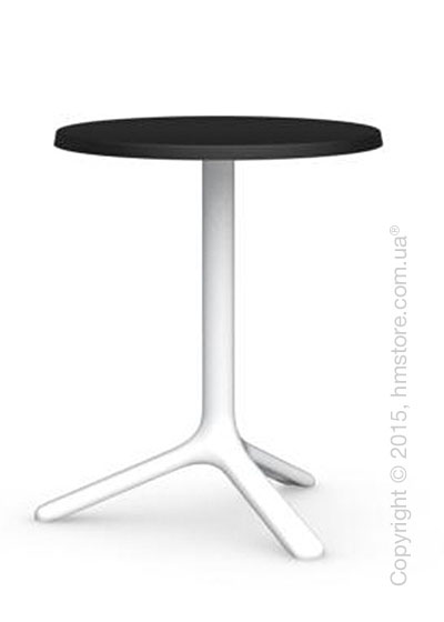 Стол Calligaris Area T, Outdoor bar table, Melamine matt black and Metal matt optic white