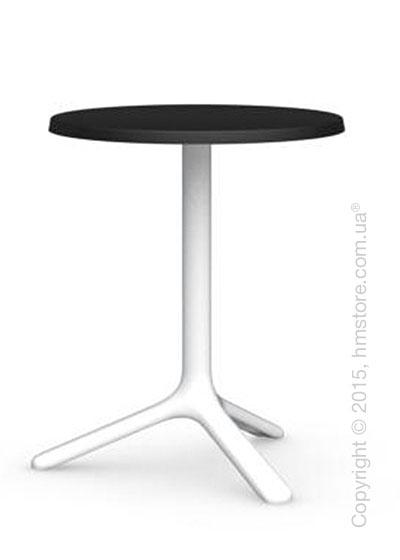 Стол Calligaris Area T, Outdoor bar table, Melamine matt black and Metal matt optic white