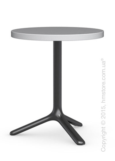 Стол Calligaris Area T, Round bar table, Laminated matt optic white and Metal matt black