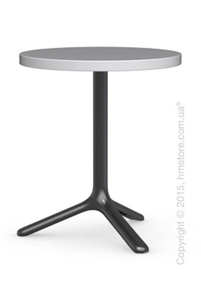 Стол Calligaris Area T, Round bar table, Laminated matt optic white and Metal matt black