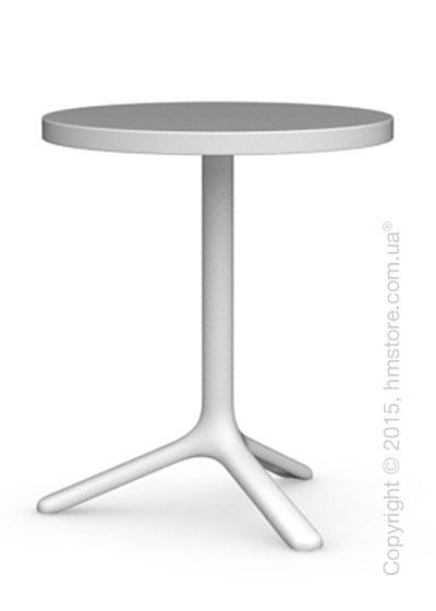 Стол Calligaris Area T, Round bar table, Laminated matt optic white and Metal matt optic white