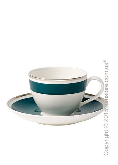 Чашка с блюдцем Villeroy & Boch коллекция Anmut My Color, Emerald Green