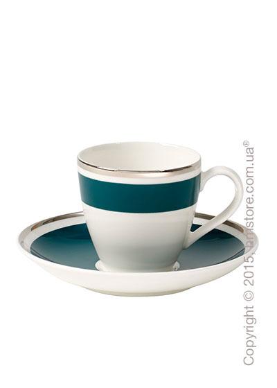 Чашка для эспрессо с блюдцем Villeroy & Boch коллекция Anmut My Color, Emerald Green