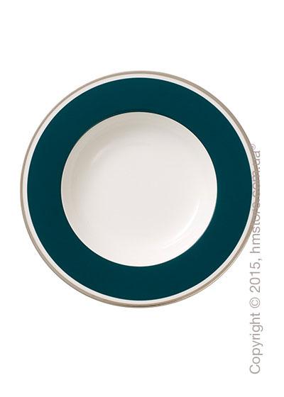 Тарелка столовая глубокая Villeroy & Boch коллекция Anmut My Color, Emerald Green