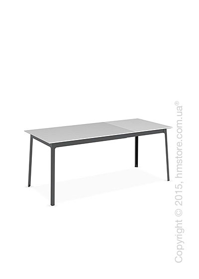 Стол Calligaris Dot, Rectangular extending table, Melamine multistripe silk and Metal matt black
