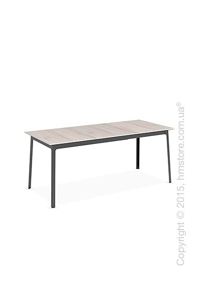 Стол Calligaris Dot, Rectangular extending table, Melamine deco pearl and Metal matt black