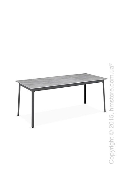 Стол Calligaris Dot, Rectangular extending table, Melamine beton grey and Metal matt black