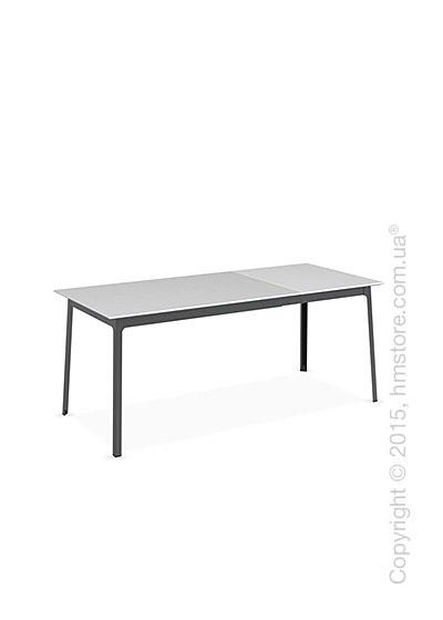Стол Calligaris Dot, Rectangular extending table, Melamine matt white and Metal matt black