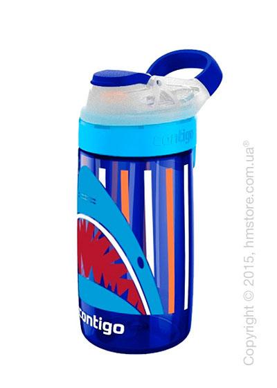 Детская фляга Contigo Gizmo Sip, Sapphire Jaws 420 мл