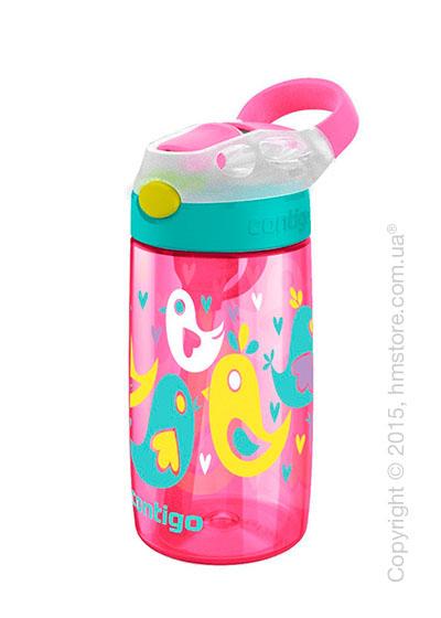 Детская фляга Contigo Gizmo Flip, Cherry blossom love birds 420 мл