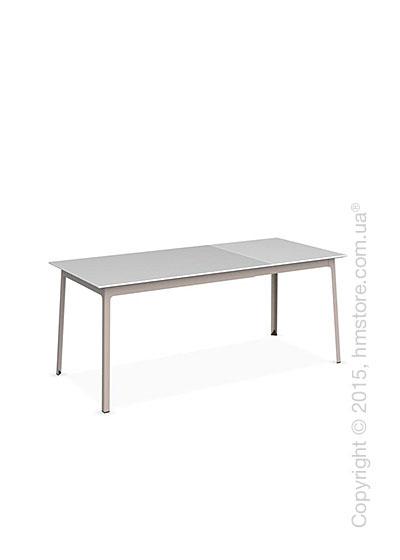 Стол Calligaris Dot, Rectangular extending table, Melamine multistripe silk and Metal matt taupe