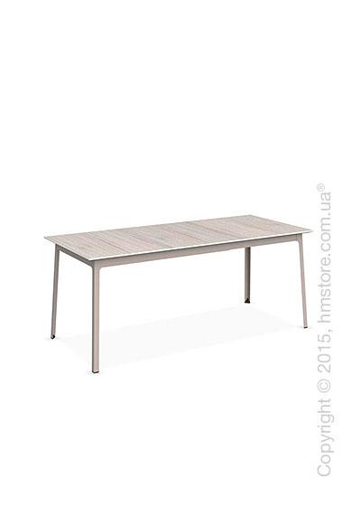 Стол Calligaris Dot, Rectangular extending table, Melamine deco pearl and Metal matt taupe