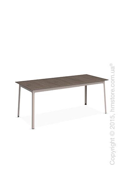 Стол Calligaris Dot, Rectangular extending table, Melamine deco nougat and Metal matt taupe