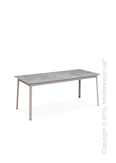 Стол Calligaris Dot, Rectangular extending table, Melamine beton grey and Metal matt taupe
