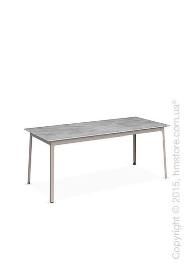 Стол Calligaris Dot, Rectangular extending table, Melamine beton grey and Metal matt taupe