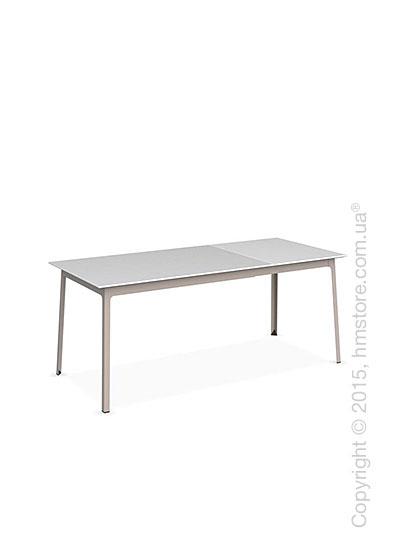 Стол Calligaris Dot, Rectangular extending table, Melamine matt white and Metal matt taupe