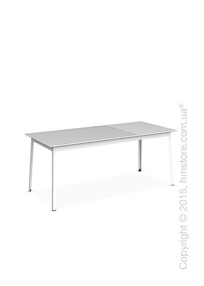 Стол Calligaris Dot, Rectangular extending table, Melamine multistripe silk and Metal matt optic white