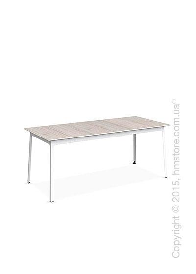 Стол Calligaris Dot, Rectangular extending table, Melamine deco pearl and Metal matt optic white