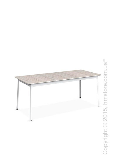Стол Calligaris Dot, Rectangular extending table, Melamine deco pearl and Metal matt optic white