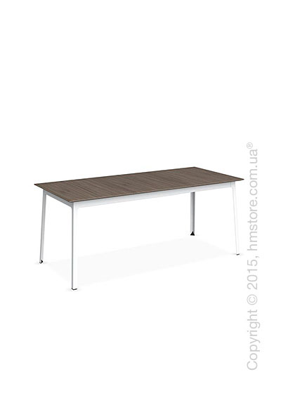 Стол Calligaris Dot, Rectangular extending table, Melamine deco nougat and Metal matt optic white