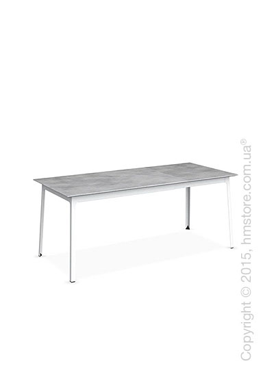 Стол Calligaris Dot, Rectangular extending table, Melamine beton grey and Metal matt optic white