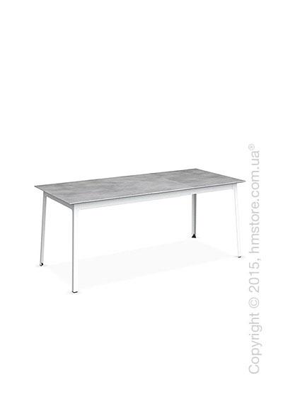 Стол Calligaris Dot, Rectangular extending table, Melamine beton grey and Metal matt optic white