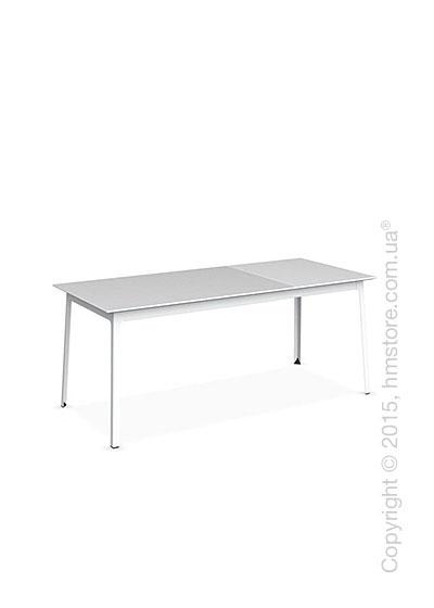 Стол Calligaris Dot, Rectangular extending table, Melamine matt white and Metal matt optic white