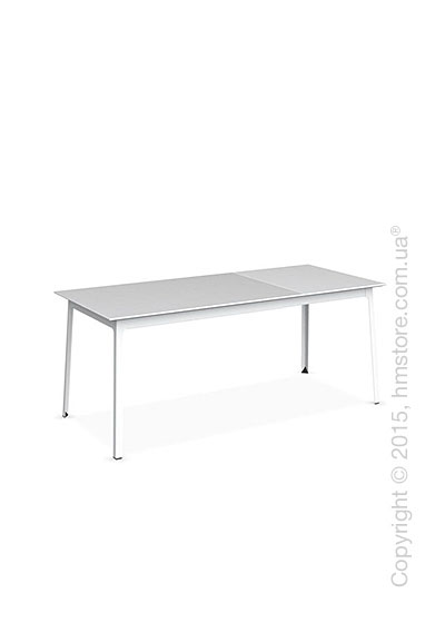 Стол Calligaris Dot, Rectangular extending table, Melamine matt white and Metal matt optic white