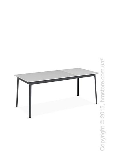 Стол Calligaris Dot, Rectangular extending table, Melamine multistripe silk and Metal matt grey