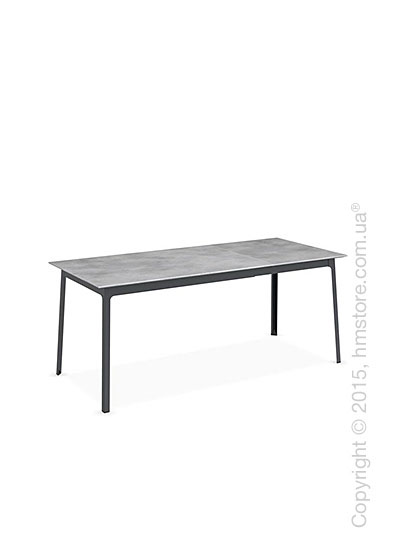 Стол Calligaris Dot, Rectangular extending table, Melamine beton grey and Metal matt grey