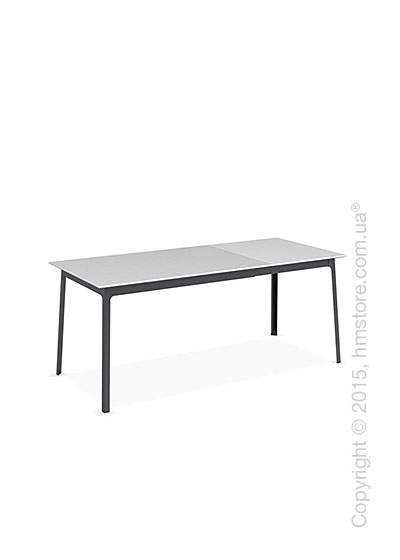 Стол Calligaris Dot, Rectangular extending table, Melamine matt white and Metal matt grey