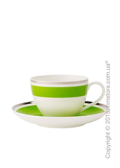 Чашка с блюдцем Villeroy & Boch коллекция Anmut My Color, Forest Green