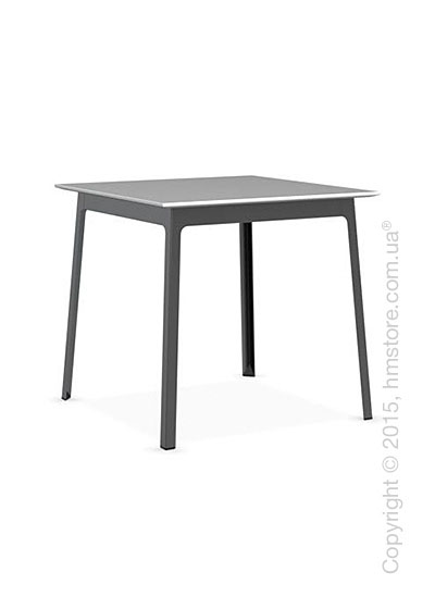 Стол Calligaris Dot, Square wood and metal table, Melamine multistripe silk and Metal matt black
