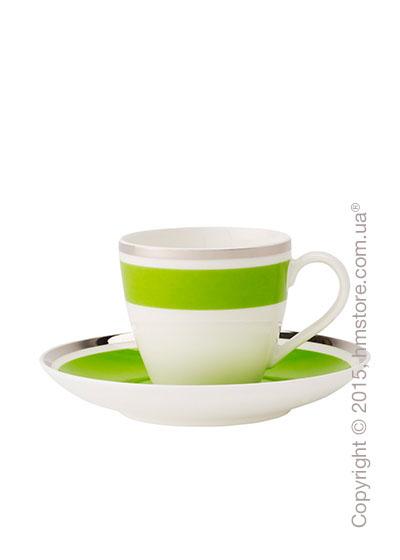 Чашка для эспрессо с блюдцем Villeroy & Boch коллекция Anmut My Color, Forest Green