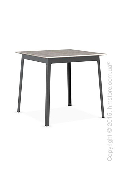 Стол Calligaris Dot, Square wood and metal table, Melamine deco pearl and Metal matt black