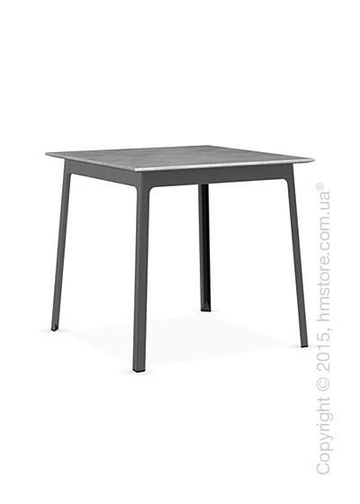 Стол Calligaris Dot, Square wood and metal table, Melamine beton grey and Metal matt black