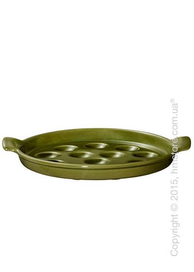 Блюдо для подачи улиток Emile Henry Ovenware на 12 штук, Olive