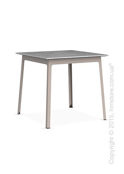 Стол Calligaris Dot, Square wood and metal table, Melamine beton grey and Metal matt taupe